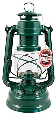 "Feuerhand Hurricane Lantern - German Made Oil Lamp - 10"" with Care Pack"