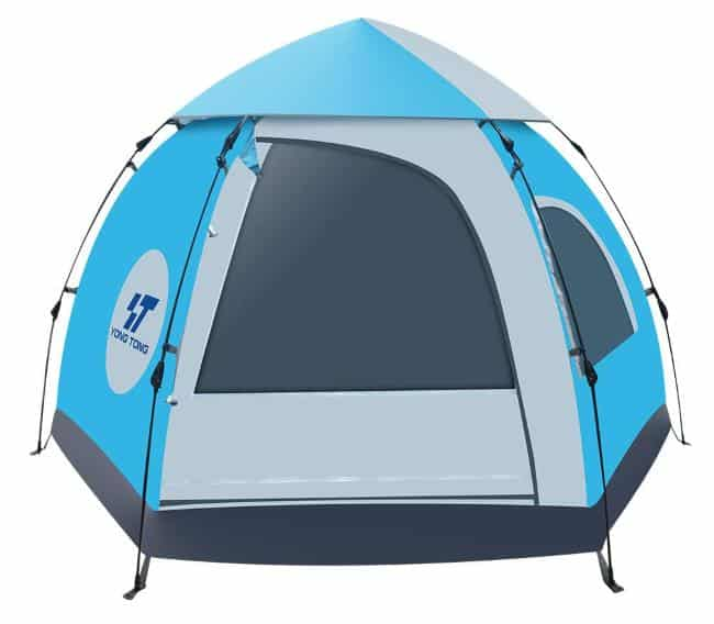HENGTONG Camp Tent 5-6 Person Family Tent Waterproof Hydraulic Anti-UV Windproof Backpacking