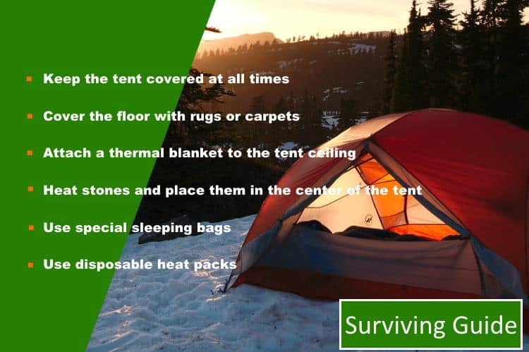 How to keep a tent warm in cold weather – Survival Tips