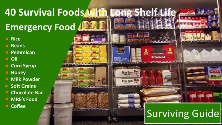Survival Foods with Long Shelf Life - Best Emergency Food