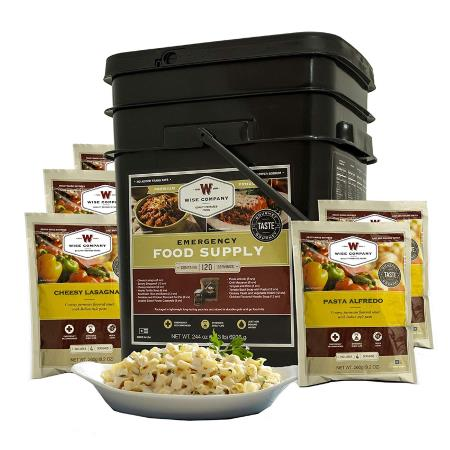 Wise Company Emergency Freeze Dried Entrees - 120 Servings