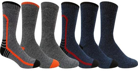 Grey Wolf Men's 6 Pairs Cold Weather Boot Sock