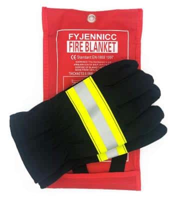 2 Pack Premium Fire Blanket /– 39 x 39 Inch Fire Suppression Survival and Emergency Blanket for Kitchen, Car, Camping, Grilling, Office, Warehouse IGNIXIA